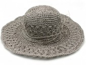 Z-B1.5 HAT211-001B Summer Hat Woven Grey