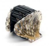 X-L4.1 H413-047B Hair Clip Shell 4.5cm Black