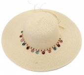 Y-E5.4 HAT210-002B Hat with Shells 43cm Beige