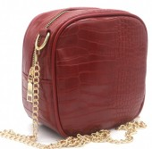 Y-C2.3 BAG535-001B Crossbody Bag Croco 18x18x8.5cm Red