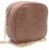 Y-C1.5 BAG535-001C Crossbody Bag Croco 18x18x8.5cm Pink