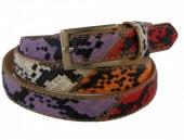 S-C1.1 PU Belt 110x2cm Snake Adjustable 85-110cm Multi Color